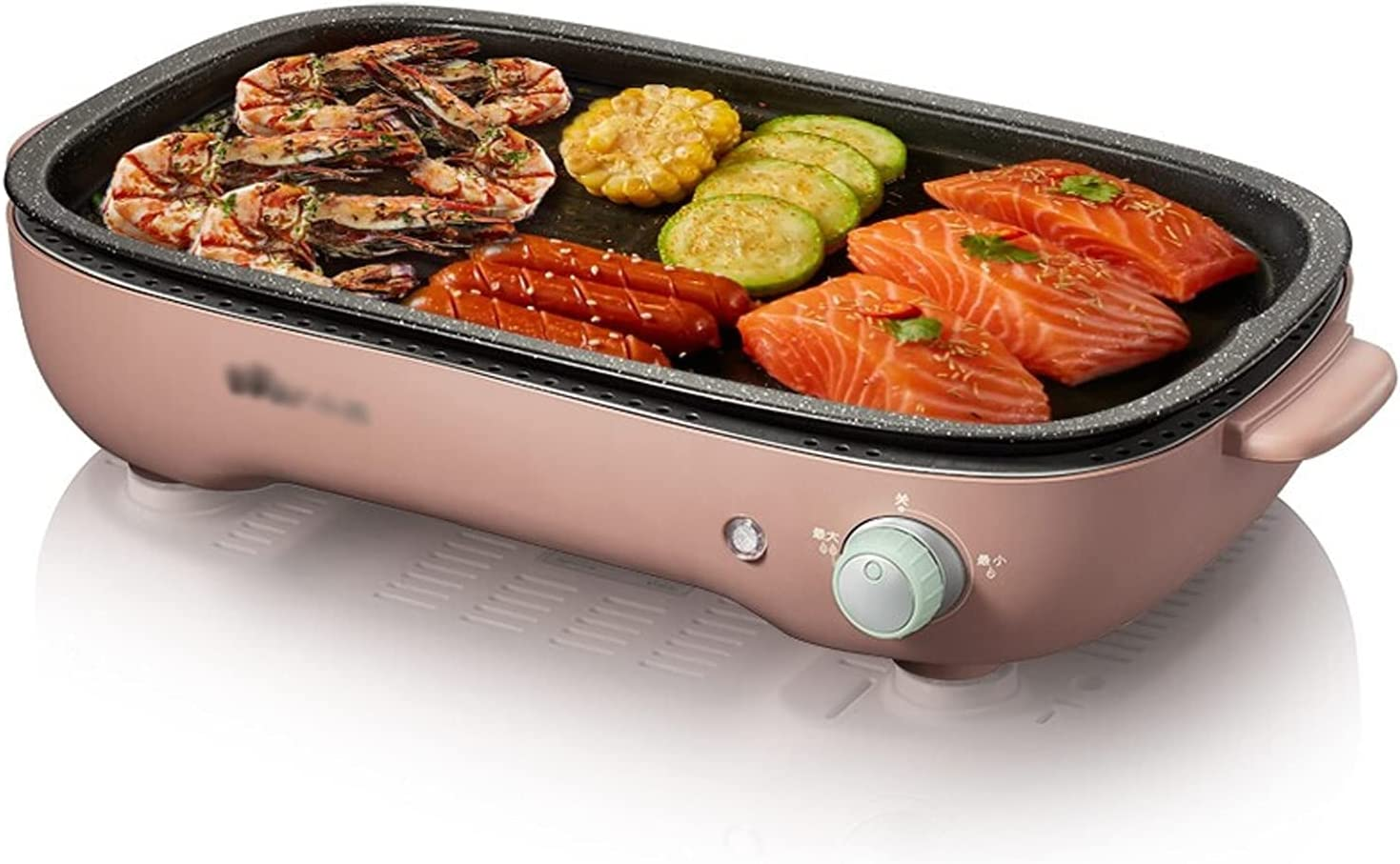 YITIANTIAN Fort Worth Mall Barbecue Racks Max 75% OFF Smokeless 1200W Indoor Electric Grill