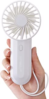 SmartDevil Mini Handheld Fan, Dual-Bladed Fan, Small Personal Portable Fan with USB Rechargeable Battery Operated, Powerfu...