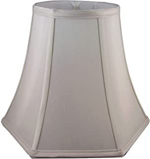 "American Pride 8""x 16""x 12"" Hexagon Soft Shantung Tailored Lampshade, Croissant"