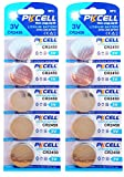 10 x CR2450 3V Lithium Knopfzelle 600 mAh ( 2 Blistercards a 5 Batterien ) Markenware PKCELL FBA