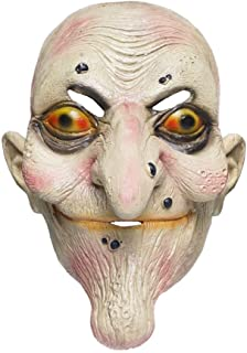 Halloween Old Woman Witch Mask Scary Horror Costume (OneSize)