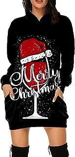 Weihnachtspullover Kleid Damen, Teenager Mädchen Weihnachts