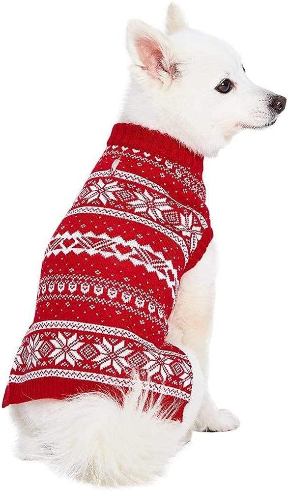 Blueberry Pet 6 Over item handling Patterns Holiday Dog Snowflake Festive Deluxe Sweaters