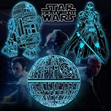 3D Illusion Star Wars Night Lights for Kids, 16 Color Changing Bedroom Decor Star Wars Gifts with Remote & Smart Touch, Christmas and Birthday Gifts for Boys Star Wars Fans, Star Wars Toys for Kids
