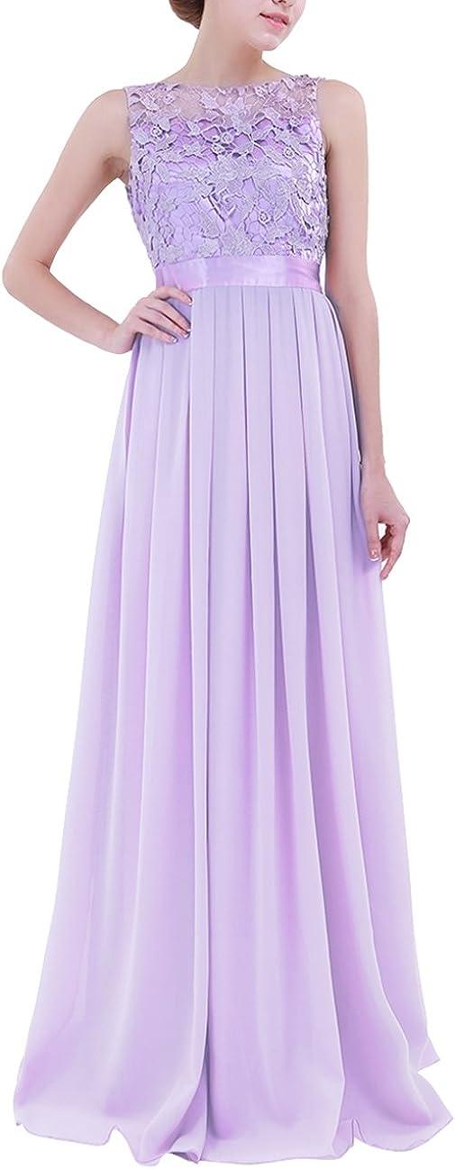 TiaoBug Women's Lace Appliques Chiffon D 新品未使用 Long Bridesmaid 正規品スーパーSALE×店内全品キャンペーン Wedding