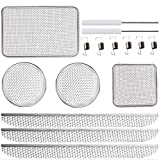 RV Furnaces Bug Screen, Flying Insect Screen for RV Refrigerator Vents,RV Water Heater Screenwith Installation Tool, 20' x 1.5' & 2.8''x1.3'' & 8.5' x 6' x 1.3' & 4.5'' x 4.5'' x 1.3'' RV Water Heater Screen (7-Piece Set)