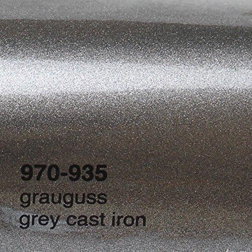 Oracal 970RA 935 grijs gietijzer metallic glans gegoten professionele autofolie 152 cm breed BEL gratis met luchtkanalen | Oracal € 20,72 /m2 970RA