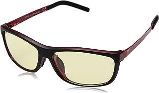 نظارات شمسية مستطيلة للبالغين من الجنسين من فوستر غرانت بلون أسود غير لامع مع أحمر للبالغين 1018171.CO، أسود مطفي فوق أحمر...