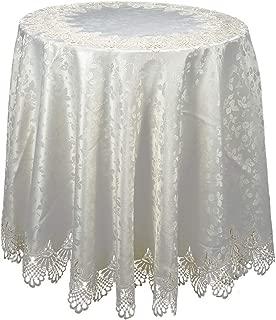 HSE 80 Inch European Style European Style Pierced Tablecloth Round Tablecloth As Halloween, Christmas Gift-(200cm)