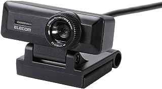エレコム WEBカメラ マイク内蔵 500万画素 高精細ガラスレンズ ブラック UCAM-C750FBBK