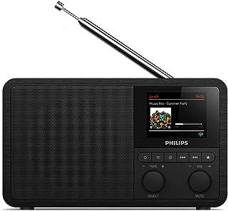 Philips Audio Radio Internet PR802/12 Dab+ Internet Radio (Bluetooth, Dab+, Temporizador, Alarma Dual, Conexión con Spotify), Color Negro