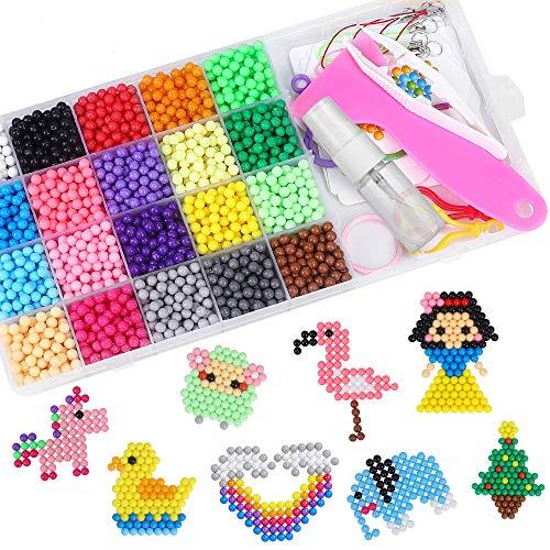 CGBOOM Abalorios Cuentas de Agua 3000 Perlas Kit 20 Colores Perlas de Agua Niños DIY Educativos Artesanía Kit Beados Recambios