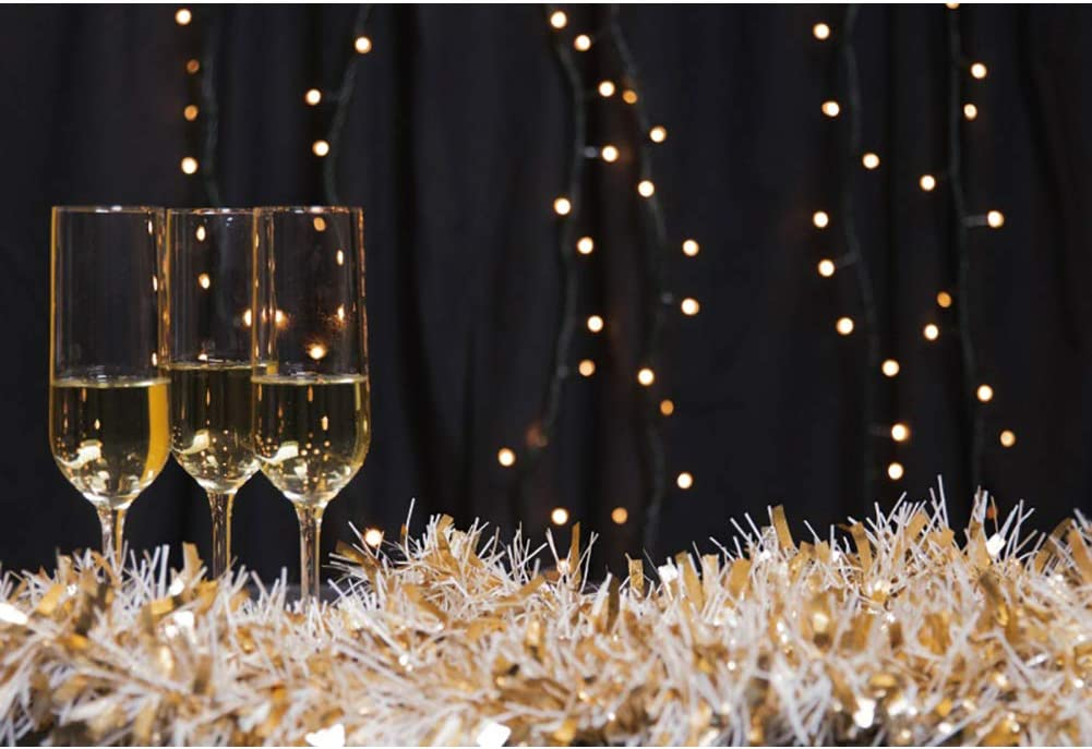 DORCEV El Paso Mall 12x10ft Champagne Party 70% OFF Outlet Tassel Backdrop Glasses