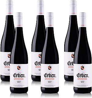 6 Flaschen Erben Spätburgunder Rotwein lieblich aus Rheinhessen QbA 6 x 0,75 l
