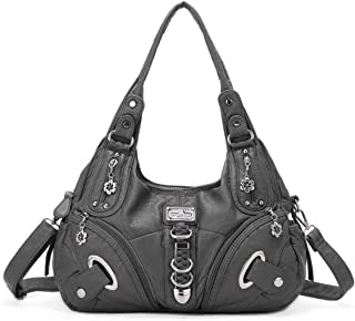 Angelkiss Soft PU Leather Shoulder Bag Top Handle Bags for Women Hobo Purses and Handbags Crossbody Purse Shoulder Bag