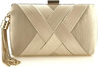 XTZLX Women's Handbag Evening Clutch Bag, Women Evening Bag Handbag Party Bridal Clutch Purse for Wedding Party, Five Colors Optional