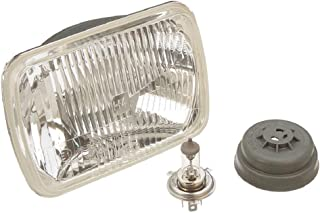 Hella 200mm Rectangular E Code H4 Halogen Replacement Headlight Kit with Standard 60/55W H4 Bulbs
