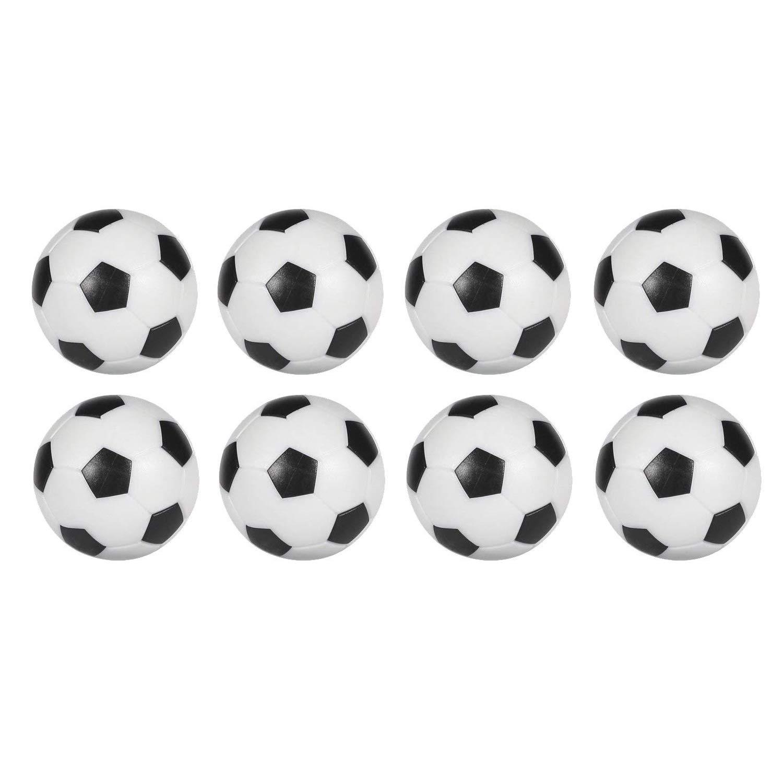 Sunfung - Juego de 8 Pelotas de fútbol de Repuesto para futbolín, Color Blanco y Negro, 36 mm: Amazon.es: Deportes y aire libre