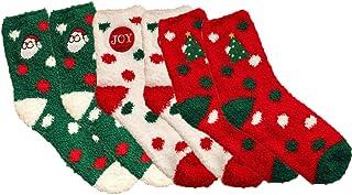 Ambolio, 3 pares,Calcetines Navidad,Navidad Calcetines Damas,Calcetines Algodón Navidad.