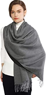 RIIQIICHY Winter Cashmere Wool Scarf Pashmina Shawl Wrap for Women Long Large Warm Thick Reversible Scarves
