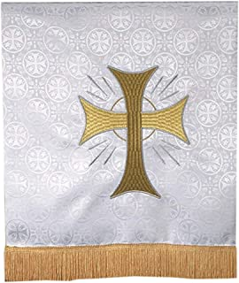 Toomey Red Jacquard Polyester Embroidered Holy Dove Stole R.J 110 Inch
