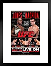 Pyramid America Official UFC 140 Jon Jones vs Lyoto Matchida Sports Matted Framed Poster 20x26 inch