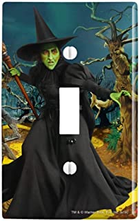 GRAPHICS & MORE Wizard of Oz Wicked Witch Character Plastic Wall Decor Toggle Light Switch Plate Cover