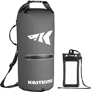 KastKing Cyclone Seal Dry Bag - 100% Waterproof Bag with Phone Case Front Zippered Pocket, Perfect for Beach, Fishing, Kay...
