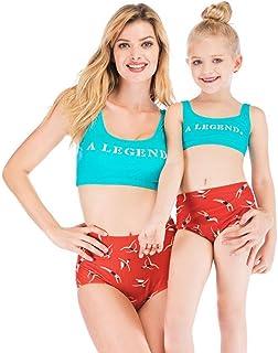 ウォータースポーツに適した母と娘のツーピース水着ハイウエスト保守的な親子水着 (色 : B, サイズ さいず : Child-2XL)
