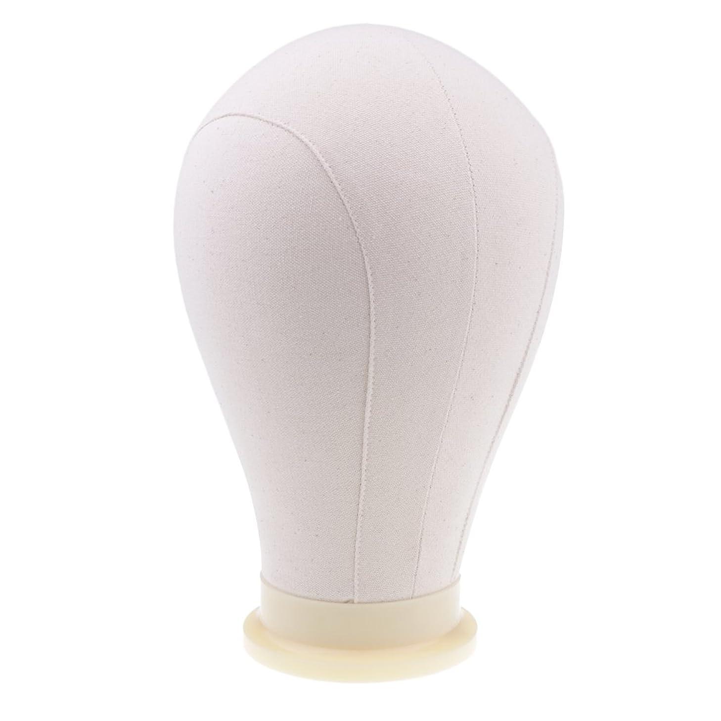 シットコム慢な委員長DYNWAVE かつら 帽子 ディスプレイ キャンバスブロック マネキンヘッド 帽子作り ピン付き 4サイズ - 24インチ