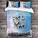 SL-YBB Grey's Anatomy - Juego de ropa de cama infantil (220 x 260 cm + 50 x 75 cm x 2)