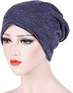 Skull Cap Beanie for Women & Men, Clearance Sale! Iuhan Cotton Summer Chemo Hat Beanie Scarf - Stretch Turban Hat - Breatfable Beanie Cap Bandana For Cancer Gift (Navy)