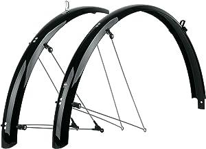 Guardabarros 28  de Acero Plata 51 mm para Bicicleta Paseo Clasica Vintage 3954