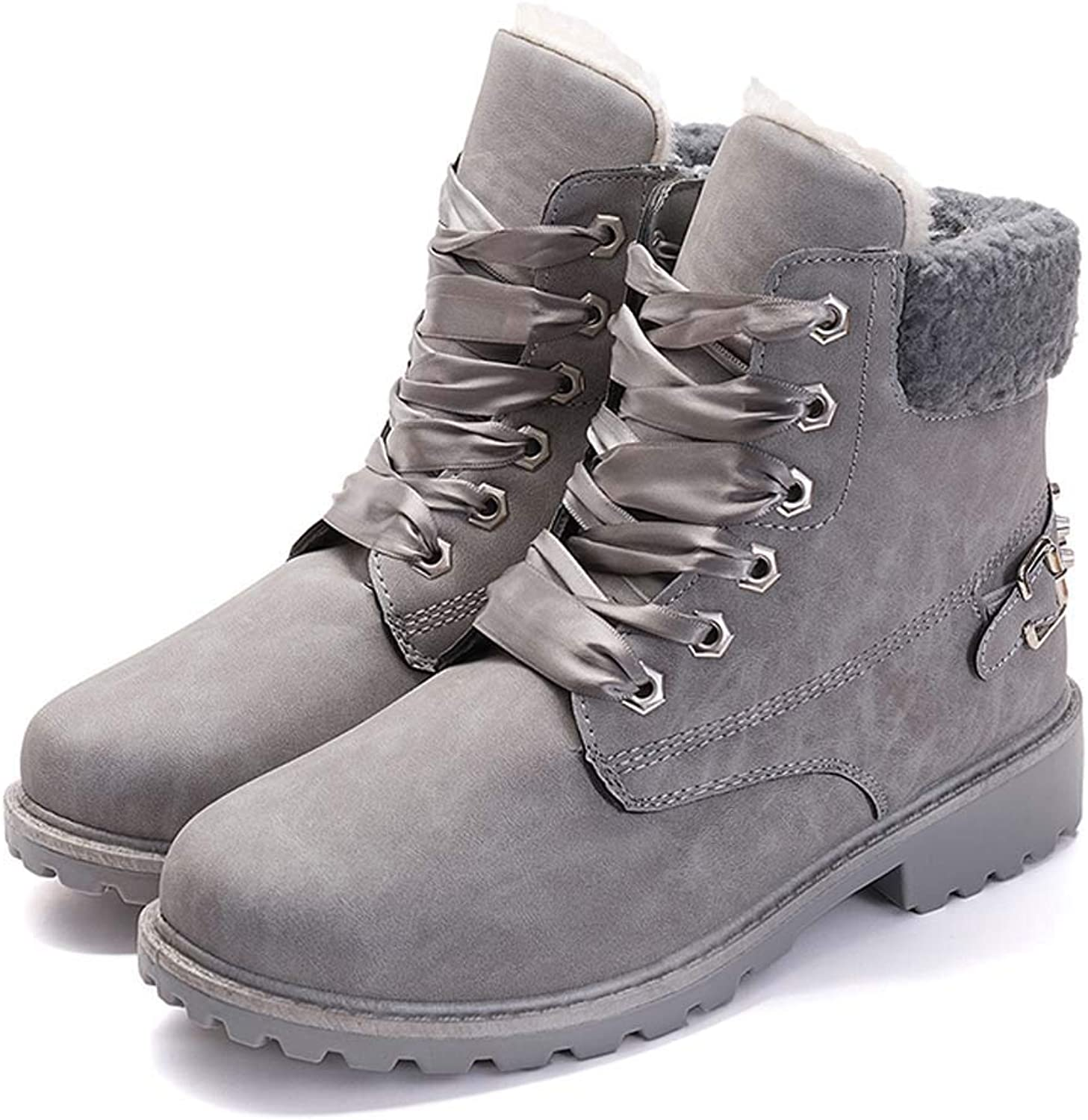DongDong Seasonal Offers Women's Winter Lace Up Boots - Warm Suede Solid Snow Boots 2018 Casual Waterproof PU shoes