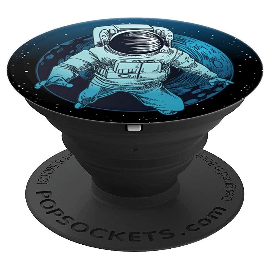 Floating Astronaut With Moon Gift Universe Cience Lovers - PopSockets Grip and Stand for Phones and Tablets