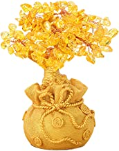 CLISPEED Crystal Money Tree Feng Shui Citrine Quartz Crystal Bonsai Figurine Statue Gemstone Tree Reiki Chakra Healing Dec...