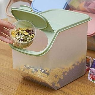 Pot de Stockage Conteneur de Stockage des Aliments secs Boîtes scellées Tasse à mesurer en Plastique de Cuisine Domestique...