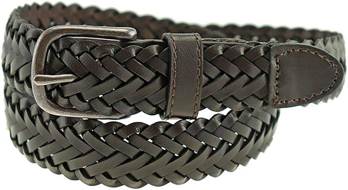 Thomas Bates Dillon Boys Dress Casual Braided Leather Belt