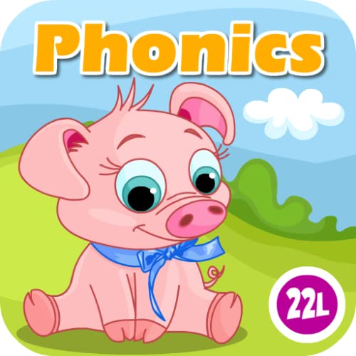 Phonics: Fun on Farm - Reading, Spelling and Tracing Educational Program • Kids Learning Games Teaching Letter Sounds, Sight Words, ABC Flash Cards Quiz & Alphabet for Preschool, Toddler, Kindergarten and 1st Grade Explorers by Abby Monkey