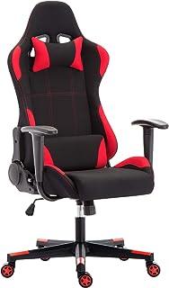 IntimaTe WM Heart Chaise de Bureau Gaming en Tissu, Fauteuil Racing Inclinable, Siège Ergonomique Pivotant, Dossier Haut