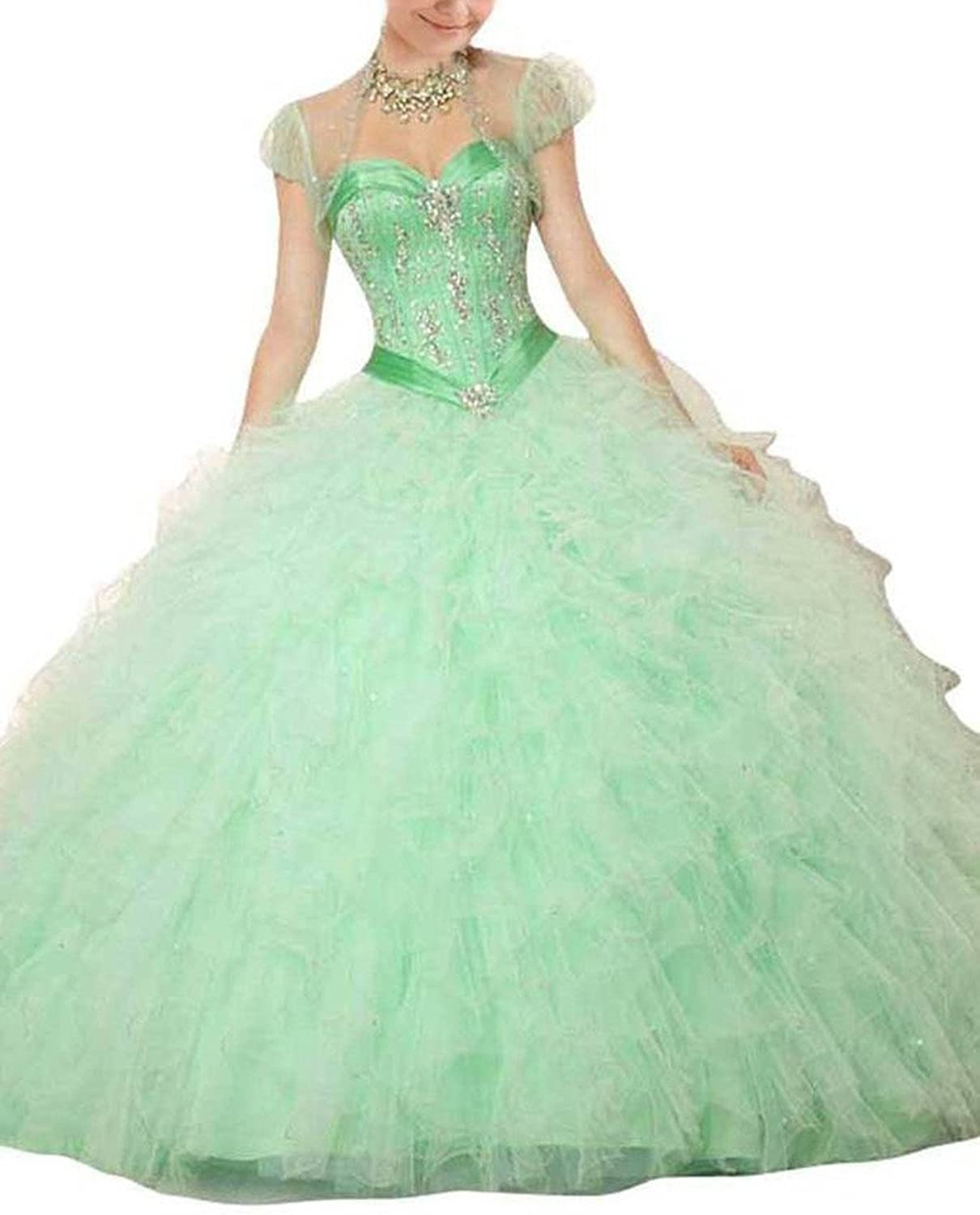 Dearta Women's Ball Gown Sweetheart FloorLength Laceup Quinceanera Dresses