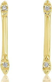 ∞ Pendientes Mujer Oro y Diamantes - Oro Amarillo 9 Kt 375 ∞ Diamantes 0.02 Kt - Joy