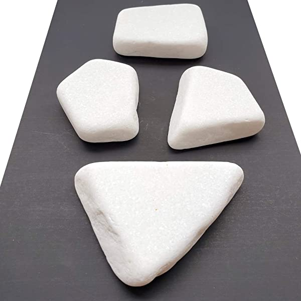Capcouriers Flat White Painting Rocks Rocks For Painting Santorini Stones 4 Painting Rocks About 2 3 25 Inches In Length