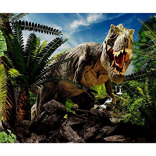 decomonkey Fototapete Dinosaurier 150x105 cm XL Tapete Fototapeten Vlies Tapeten Vliestapete Wandtapete moderne Wandbild Wand Schlafzimmer Wohnzimmern Jugendzimmer Tiere Natur Abstrakt