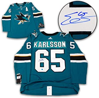 Erik Karlsson Signed Jersey - San Jose Sharks Adidas - Autographed NHL Jerseys