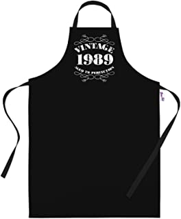 30th Birthday Gifts for Men Him Dad Husband BBQ Cooking Apron Vintage 1989