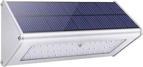 【2021 Nueva Tecnología】1100lm La Luz Solar 48 LED 4500mAh de Una Aleación de Aluminio, Impermeable al Aire Libre, Rad...