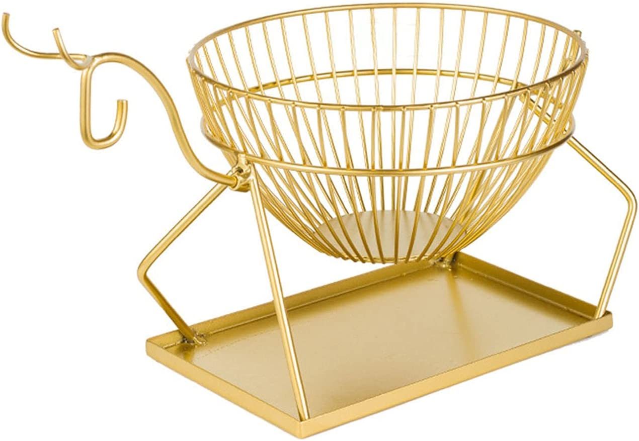 safety Metal Wire Fruit Basket Tabletop Organizer Vegetable Max 65% OFF Holder Bowl