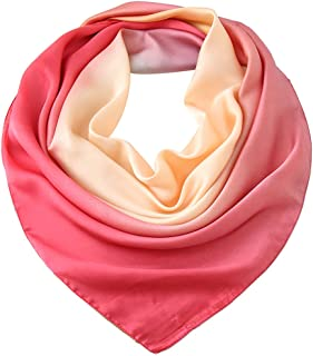 LMVERNA Square Satin Silk Like Neck Scarf Hair Scarf Wrap Fashion Pattern Headscarf Ribbon Scarves