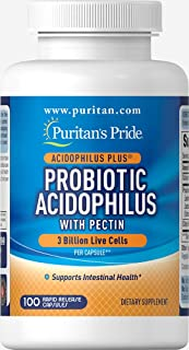 Puritan's Pride Probiotic Acidophilus with Pectin 3 billion, 100ct